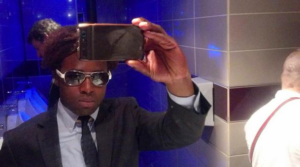 Public restroom selfie