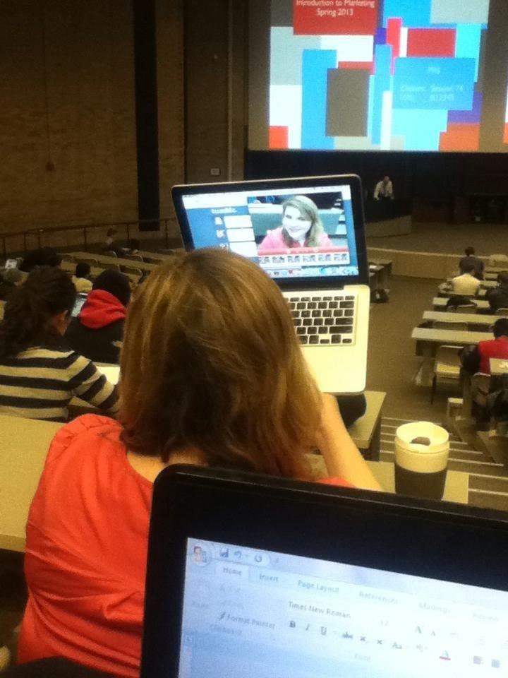 lap top classroom selfie