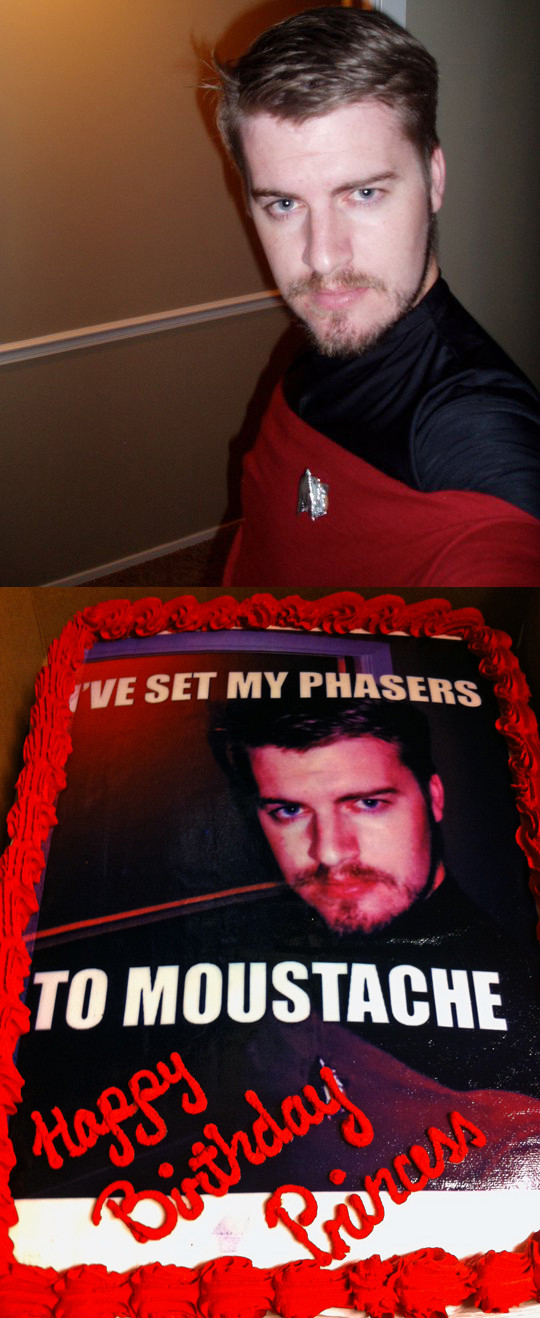 Found a Star Trek selfie pic of my friend, today's his birthday, result was delicious!