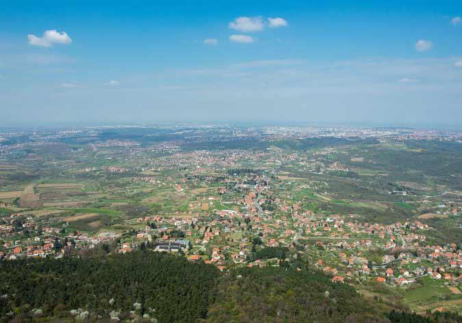 panoramski pogled sa avalskog tornja