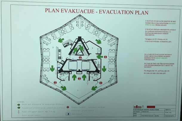 evakuacioni plan avalski toranj
