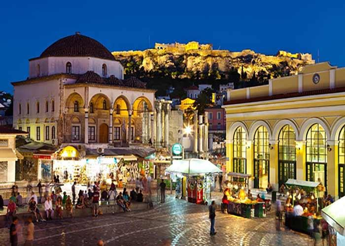 Trg Monastiraki Atina Nova godina