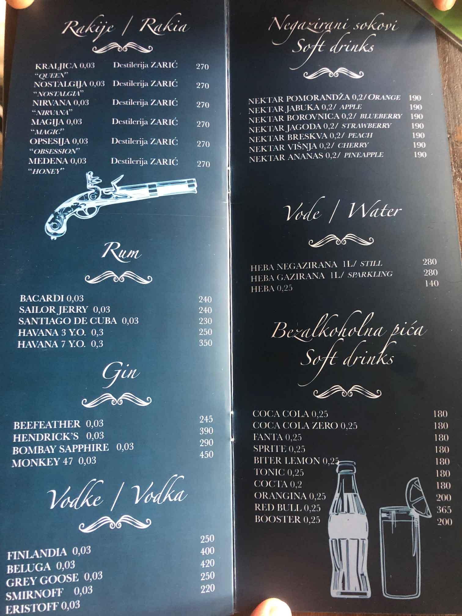 restoran black george cenovnik