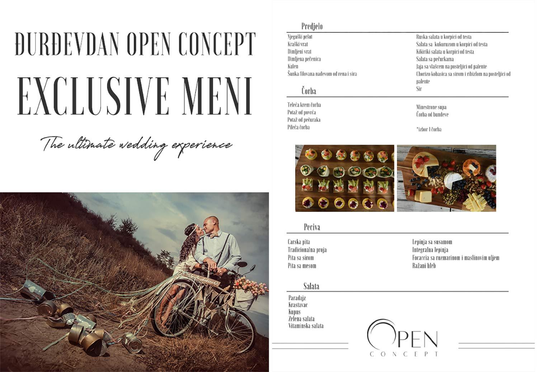Djurdjevdan Open Concept Exclusive Menu