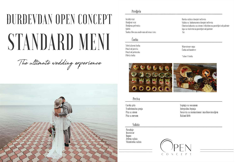 Djurdjevdan Open Concept Standard Menu