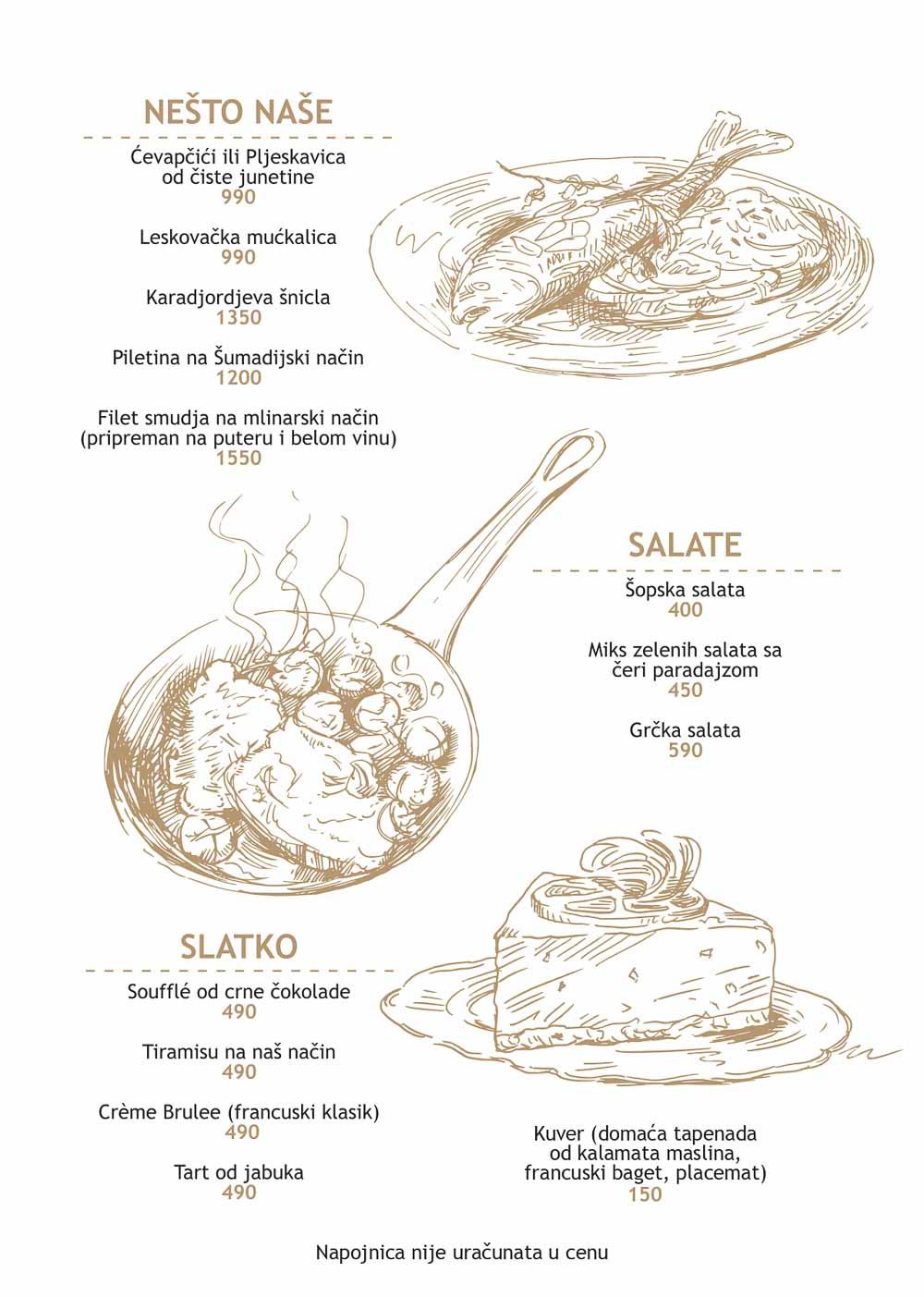 Restoran Le Moliere cenovnik i cene pica