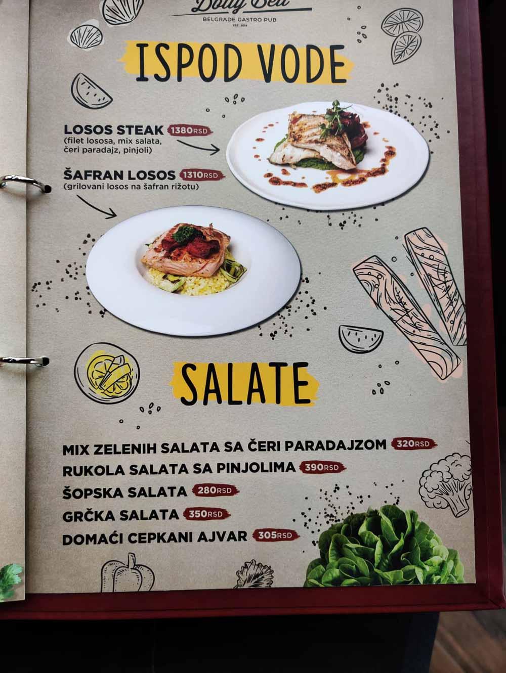 restoran dolly bell cene pica