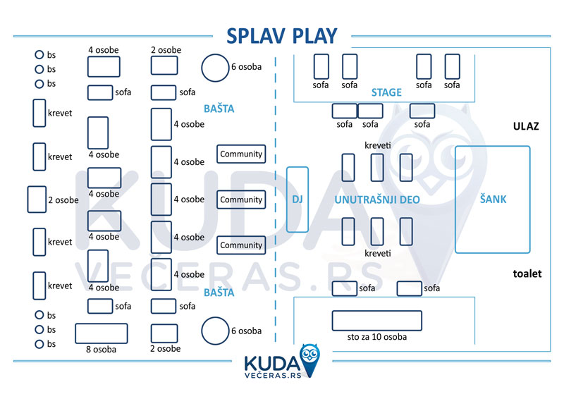 Splav Play Mapa
