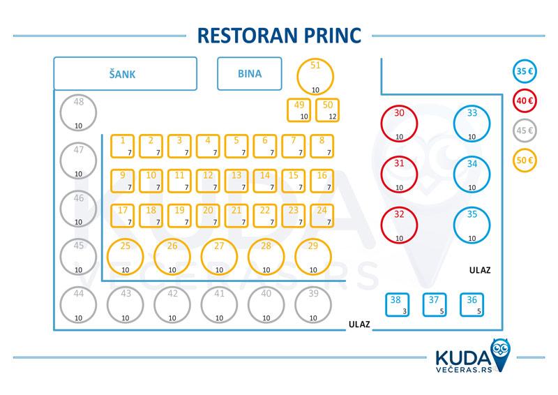 restoran princ nova godina mapa