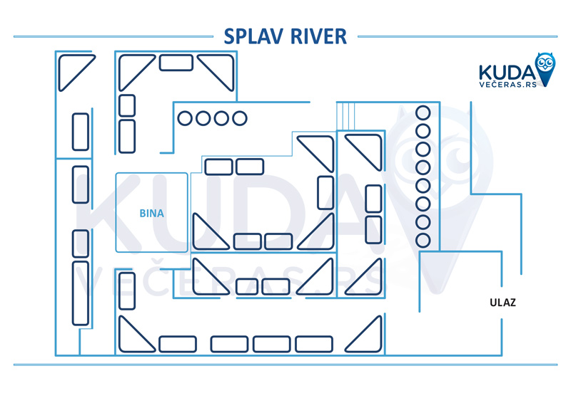 mapa splav river