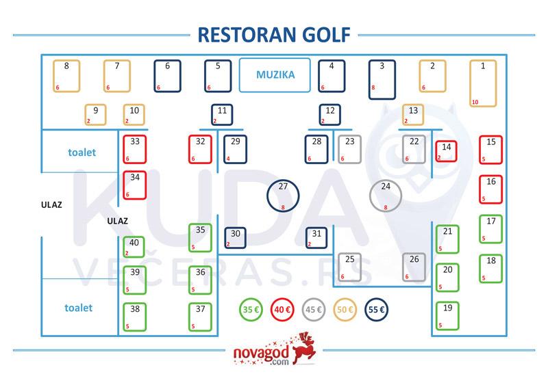 restoran golf mapa sedenja nova godina