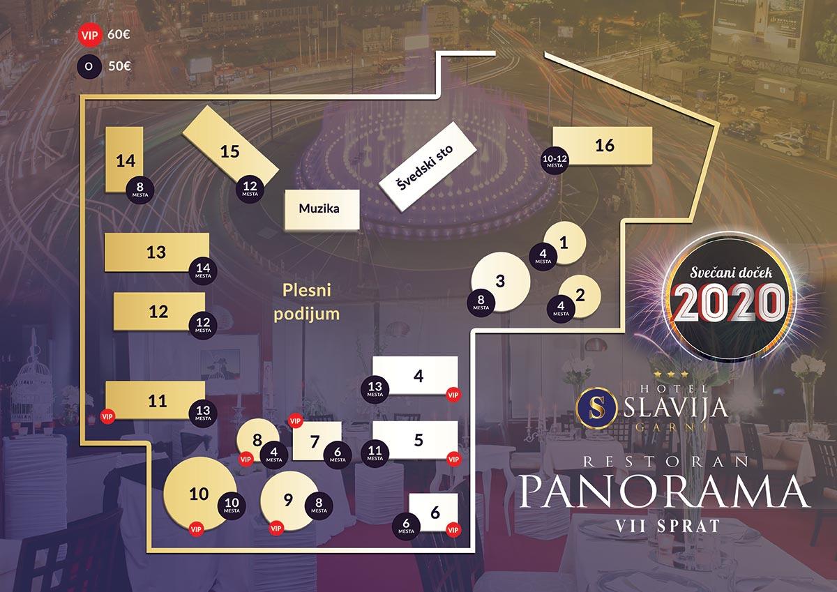 restoran panorama nova godina mapa sedenja
