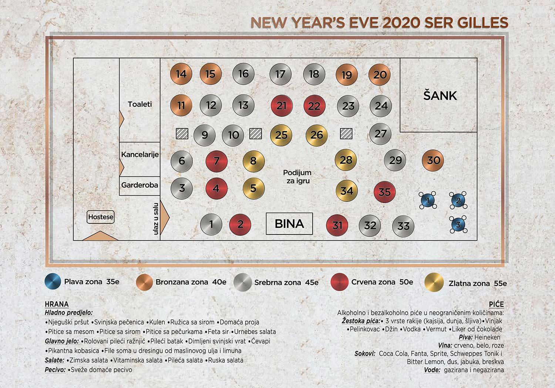ser gilles event centar nova godina mapa sedenja