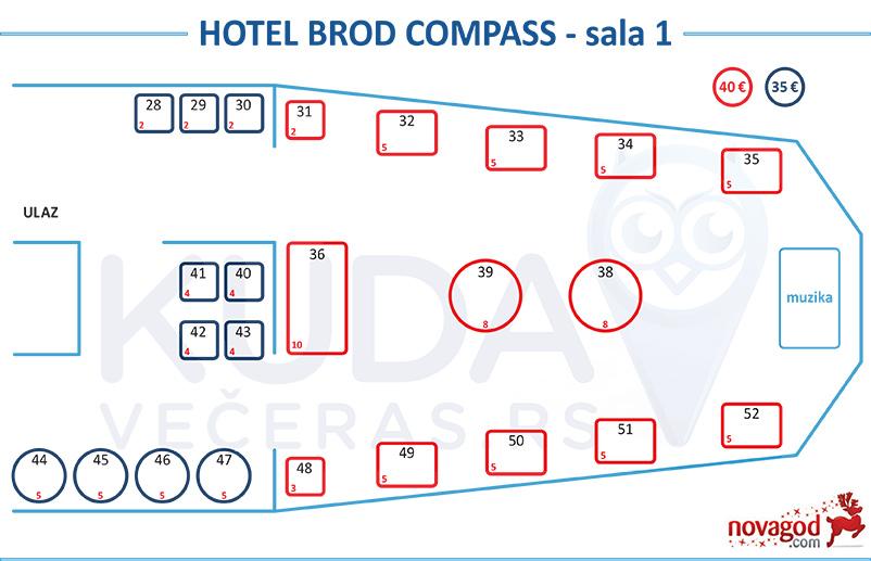 hotel kompas nova godina mapa sednja sala 1