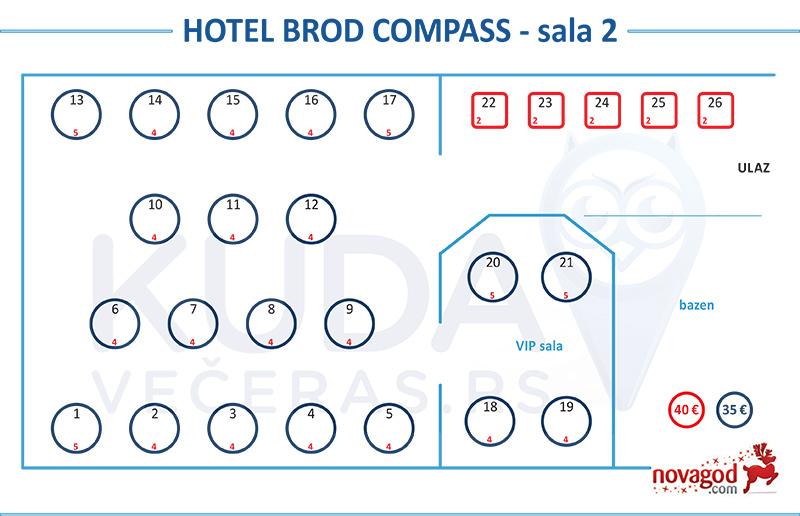 hotel kompas nova godina mapa sedenja sala 2