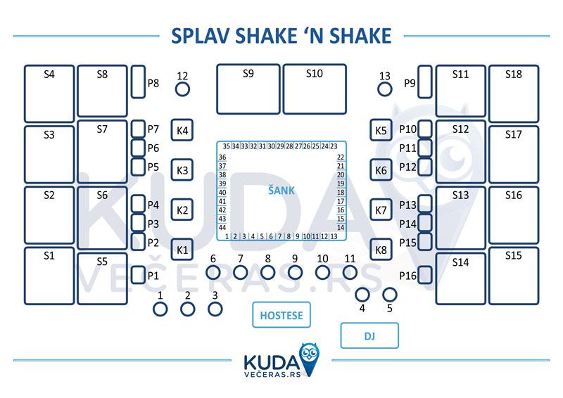 shake n shake mapa