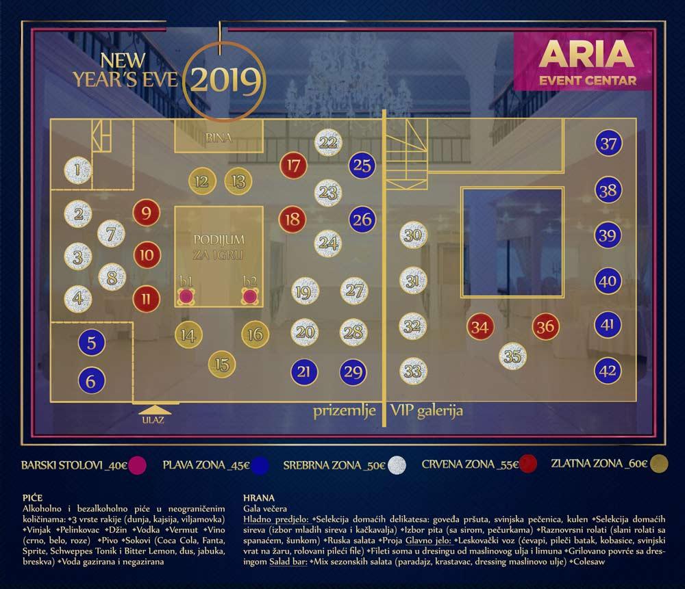 Aria Event Centar mapa