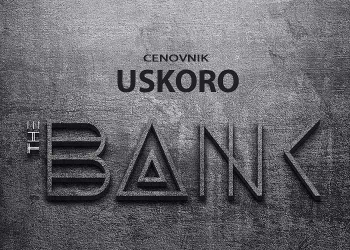 klub the bank cenovnik
