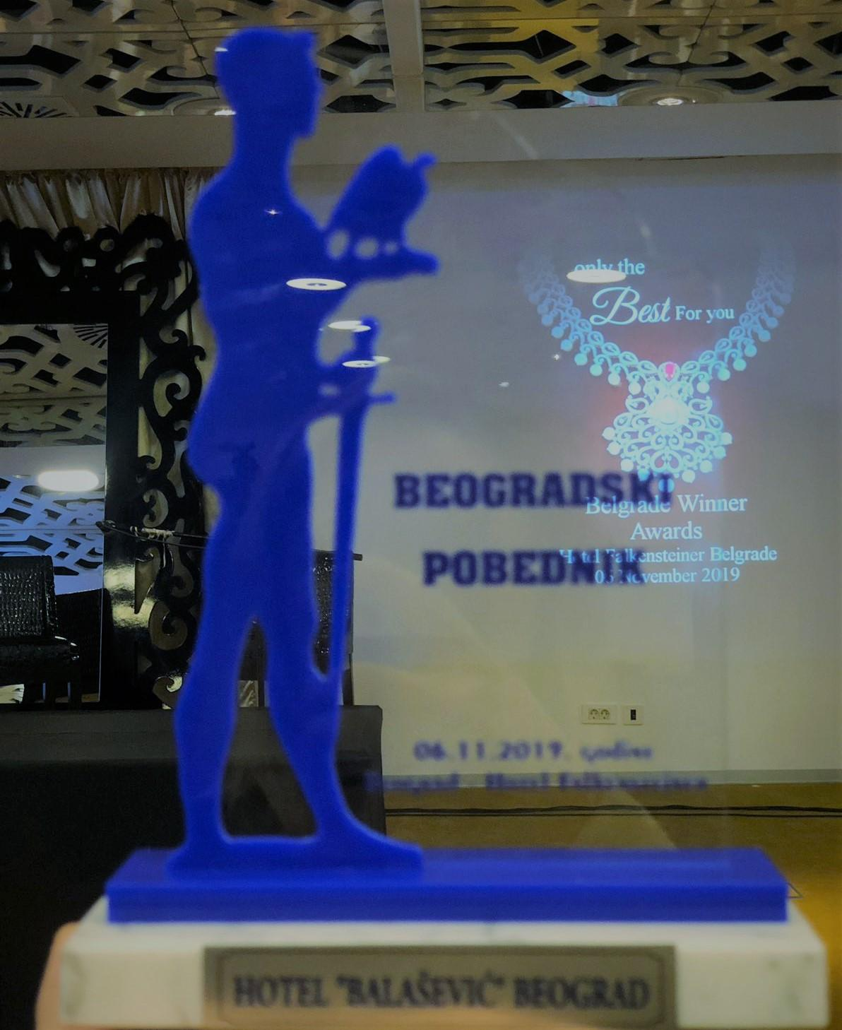 Dodeljena nagrada  BEOGRADSKI POBEDNIK 2019. godine