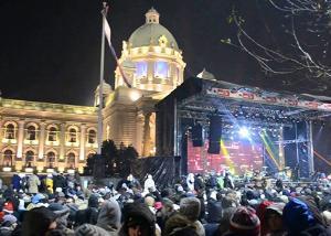 Maja Berović na Trgu Republike u Beogradu za Novu godinu