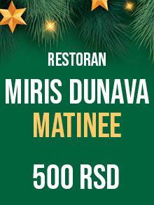 Restoran Miris Dunava matinee Nova godina