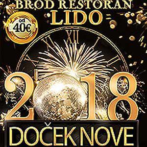 Brod Restoran Lido Doček Nove 2019. godine