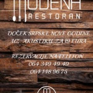 Restoran Modena Art Srpska Nova godina