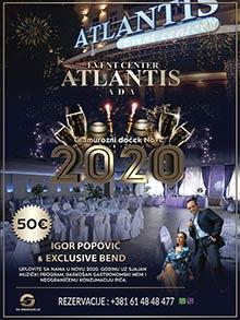 Atlantis Ada Event Centar Nova godina Kuda Veceras