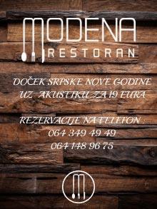 Restoran Modena Art Srpska Nova godina Kuda Veceras