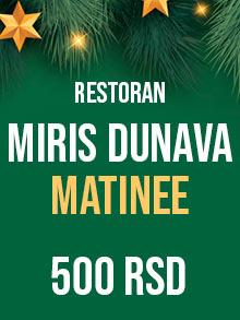 Restoran Miris Dunava matinee Nova godina Kuda Veceras